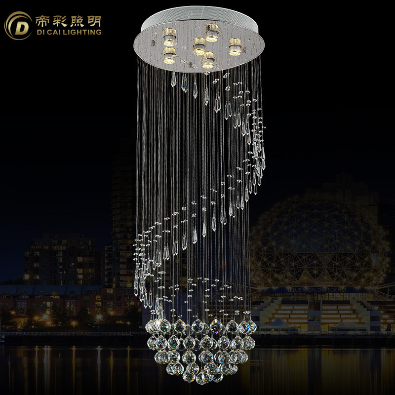 2015 New Modern Crystal Chandelier Light Fixture Crystal led bulb Lamp ...