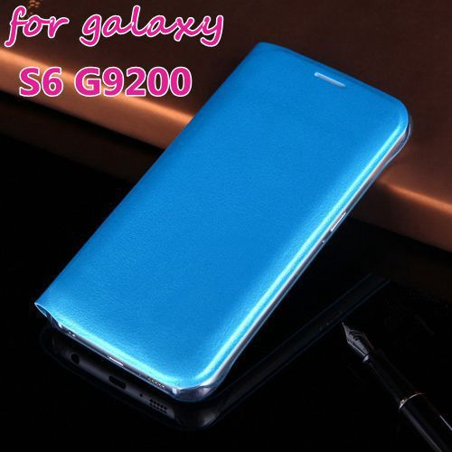 Luxury Flip PU Leather Slim Case for Samsung Galaxy S6 G9200 Stand Wallet Back Cover Mobile Phone Cases for S6 with Card Holder(China (Mainland))