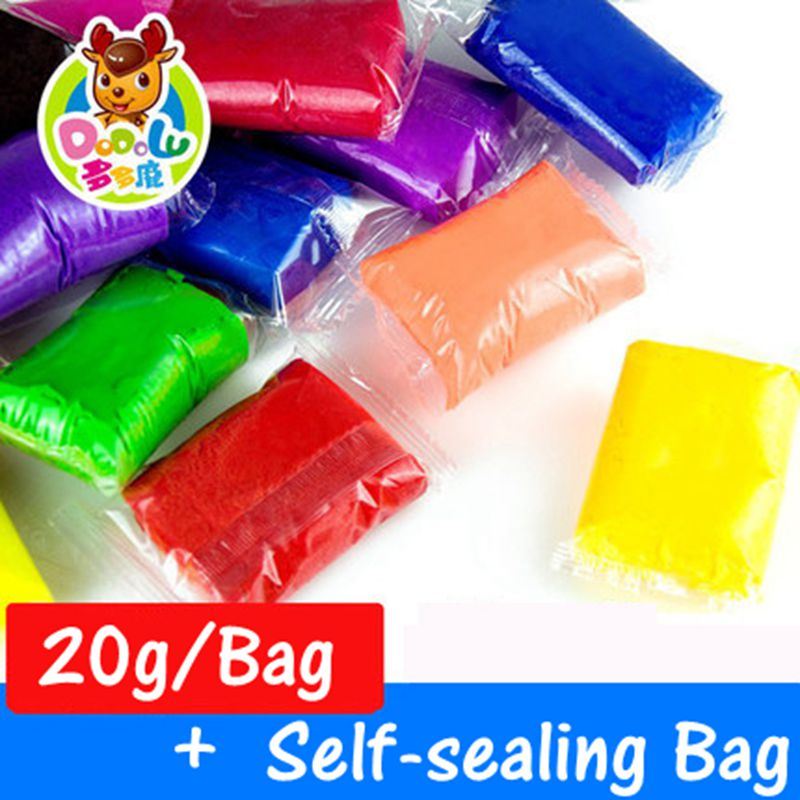 20g/Bag 24 color for chioce Air Drying DIY Malleable Fimo Polymer Modeling Clay Soft Blocks Plasticine DODOLU 1604-20g<br><br>Aliexpress