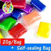 20g/Bag 24 color for chioce Air Drying DIY Malleable Fimo Polymer Modeling Clay Soft Blocks Plasticine DODOLU 1604-20g(China (Mainland))