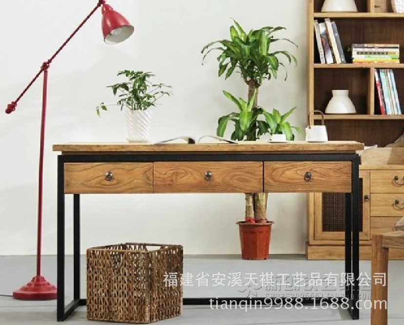 American retro to do the old wood furniture desk table coffee table made LOFT rural wind(China (Mainland))