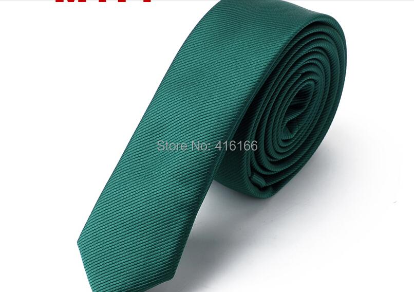 Beautifu Skinny Tie 1pc/lot Plain Solid Dark Green Narrow Slim 4cm - Bo Shop store