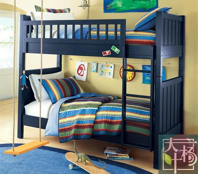 Americano azul literas de madera personalizado a medida de for Literas de madera para ninos
