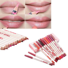 High Quality Hot 2015 Waterproof Professional Lip Liner Pencil Long Lasting 12 Colors Lipliner pen makeup New(China (Mainland))