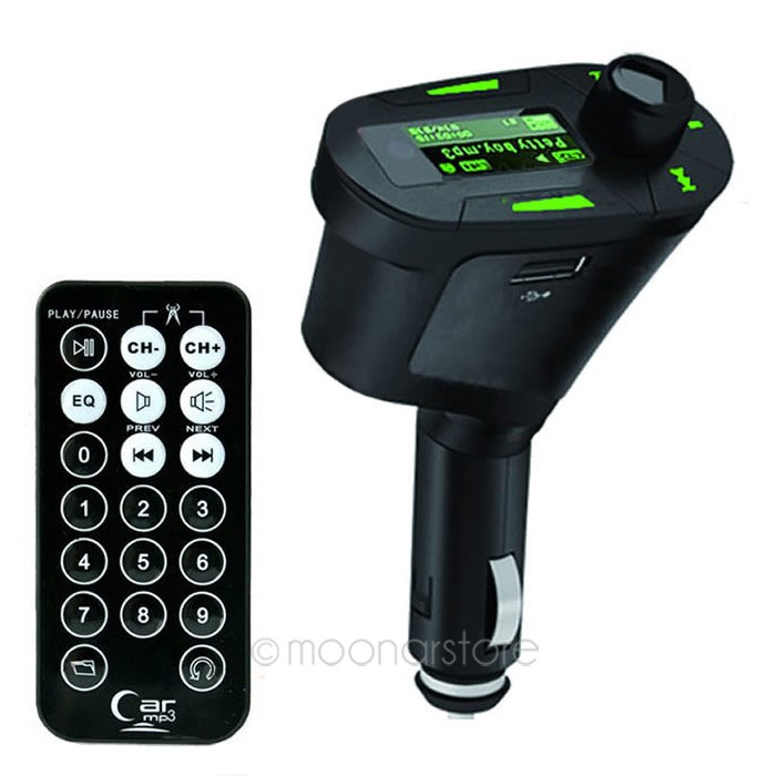 3 Colors Car Kit MP3 Mucsic Player Wireless FM Transmitter Radio Modulator With USB SD MMC+ Remote Control zx*UCQP0026#s8(China (Mainland))