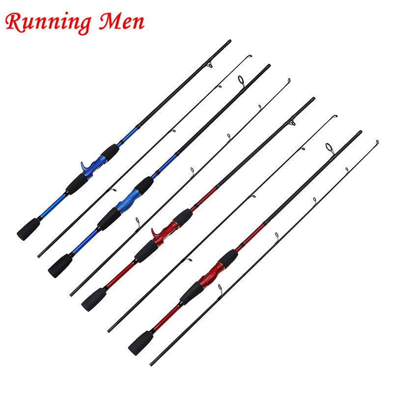 M Power 4-12LB 4-22g Lure Weight 2 SEC Blue and Red Carbon Spinning Casting Lure Fishing Rod(China (Mainland))