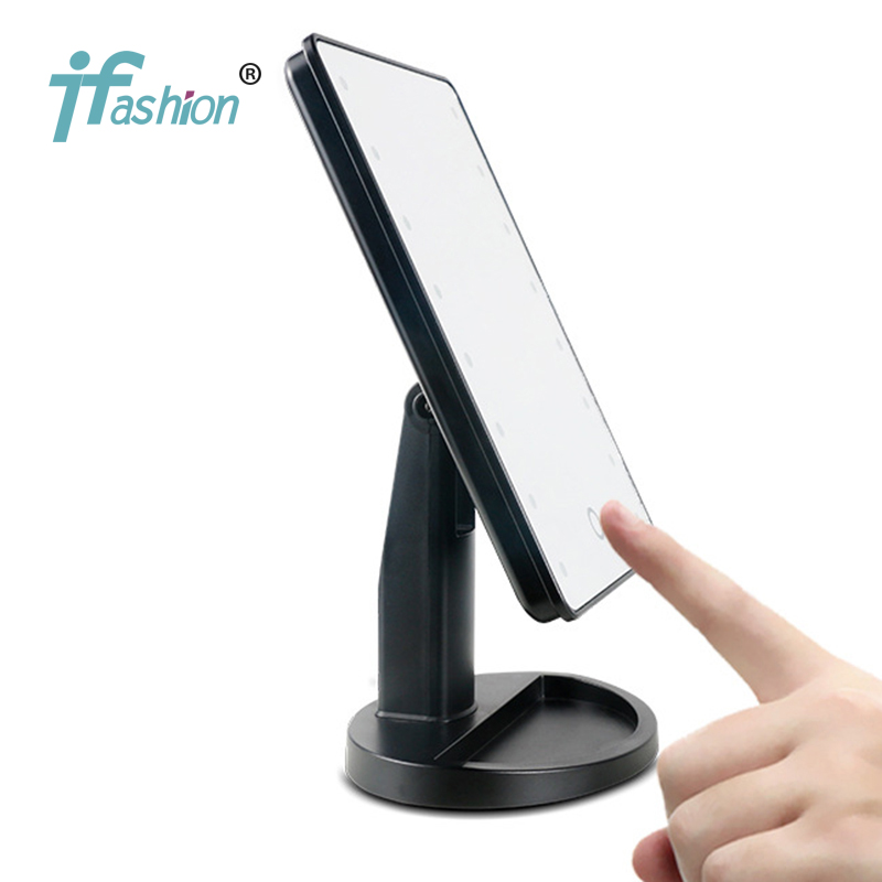 Здесь продается  Professional makeup mirror with led compact cosmetic mirror lady
