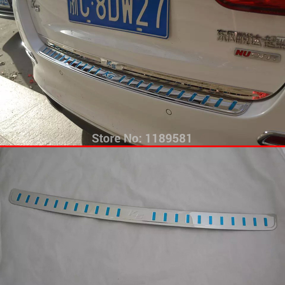 KIA K5 2014 2015+ Stainless Steel Rear Bumper Sill Protector Trim - auto seller's store