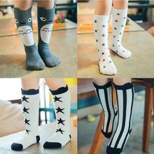 Kids Socks 2015 Spring Cotton Knee Cute Cartoon Creative Totoro Socks New Print Leg Warmer Toddler Socks 0-6 years 19 Color