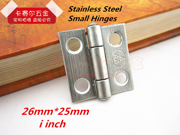Stainless Steel Cabinet Drawer Hinges Small Hinges luggage furniture accessories jewelry box 1 inch(China (Mainland))