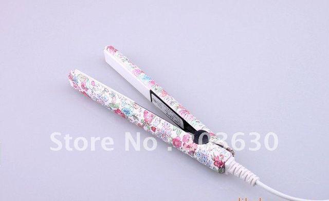 ceramic flower printing fashion hair straightener 110V-240V 50Hz-60Hz (international using) Free shipping
