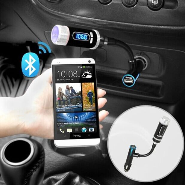 Streambot Y Wireless Bluetooth FM Transmitter Radio Adapter Handsfree Car Kit Hands-Free Calling, Music Control - Auto-case Store store