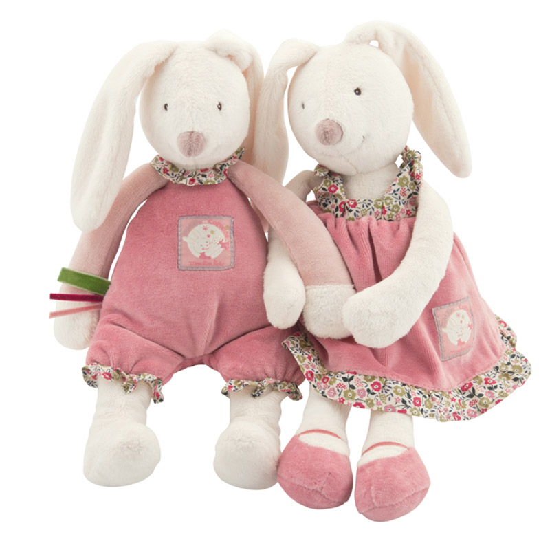High Quality Lovely Rabbit Appease Reborn Babies Doll Soft Plush Toys Brinquedos Bunny Stuffed Animal Rabbit Toy(China (Mainland))