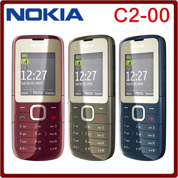 Original NOKIA C2-00 C2 Dual SIM Phone Unlocked FM Bluetooth MP3 MP4 Player Cellphone One year warranty(China (Mainland))