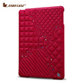Jisoncase Luxury Leather Case For iPad 2 3 4 Fashion Design Slim Stand Cover With Embroidery