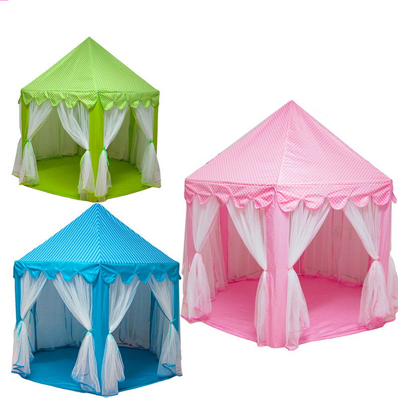 New upgrades korean six angle princess castle gauze tent Tent a house