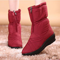 2016 women fashion snow boots cotton boots waterproof non slip boots elderly