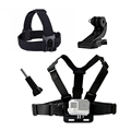Accessories Chest Head J Mount Belt Strap for Gopro SJCAM SJ4000 xiaomi yi Eken H9 H9R H8R Go pro Action Camera accessories