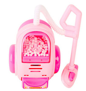 Unique design vacuum cleaner with the cute mini design plastic material with pink color educational toys boys and girls toy(China (Mainland))