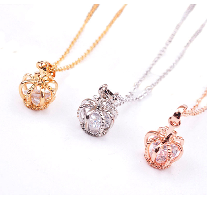 2015 Fashion Necklace Female Natural Stone Chain Necklaces Pendants Crown Pendant Fine Jewelry Body Women Girl A488 - Wonder Princess store
