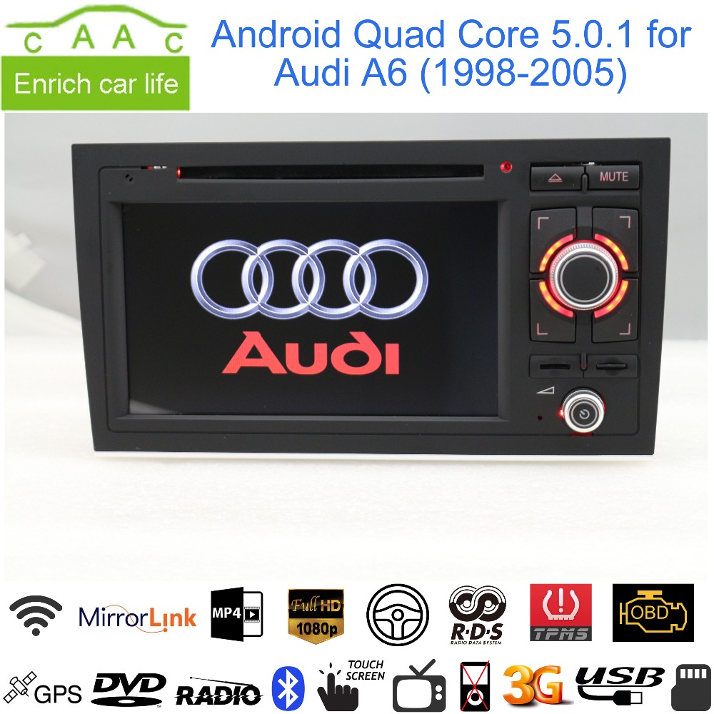 "Android 5.0.1 Quad Core GPS Navigation 7"" Car DVD Player for Audi A6 1998-2005 with Bluetooth/RDS/Radio/Canbus/Mirrorlink(China (Mainland))"
