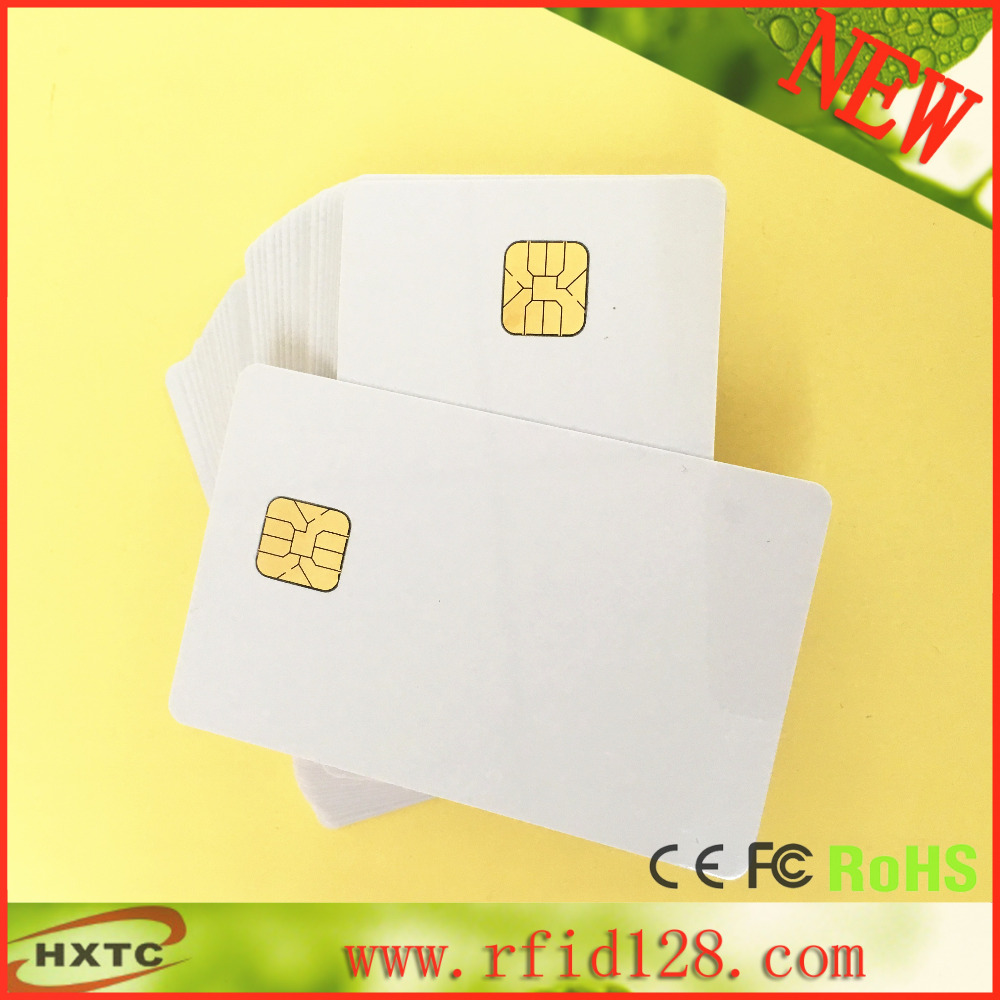 Free Shipping 50PCS/Lot ISO 7816 Contact AT24C64 Chip Smart IC Blank PVC Card with 64K Memory For Access control system(China (Mainland))