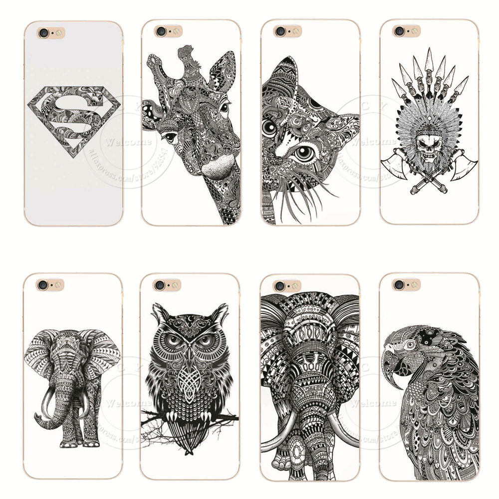 Гаджет  Vtg Style Head Case Aztec Elephant Giraffe Animal Hand Drawn Animal Back Case Cover For Apple iPhone 6 6 Plus Free Shipping None Телефоны и Телекоммуникации