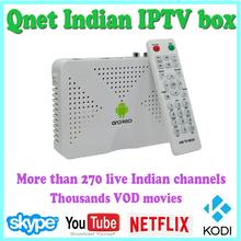HD Indian IPTV box support 200 plus Live HD Indian Channels Hindi MAX English Tamil Android TV box KODI XBMC Full loaded