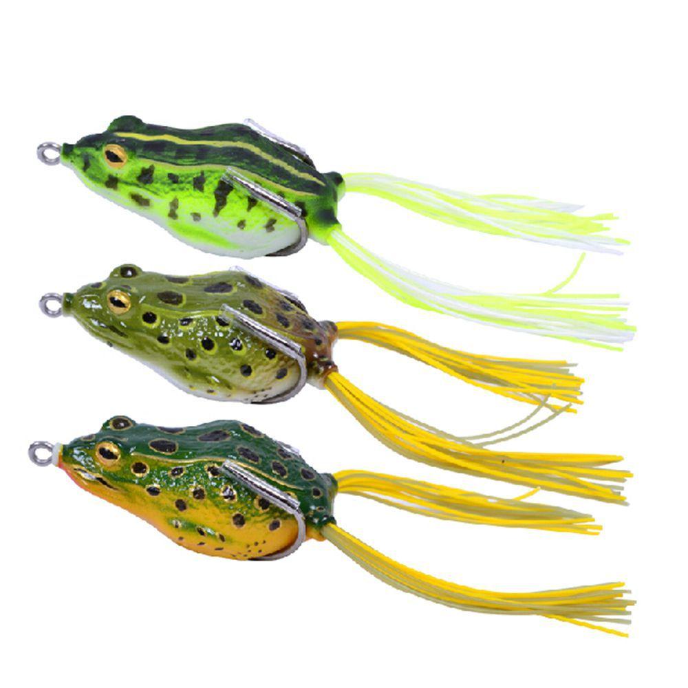 Trulinoya 55mm 2pcs lot fishing lure iscas for Frog bait fishing