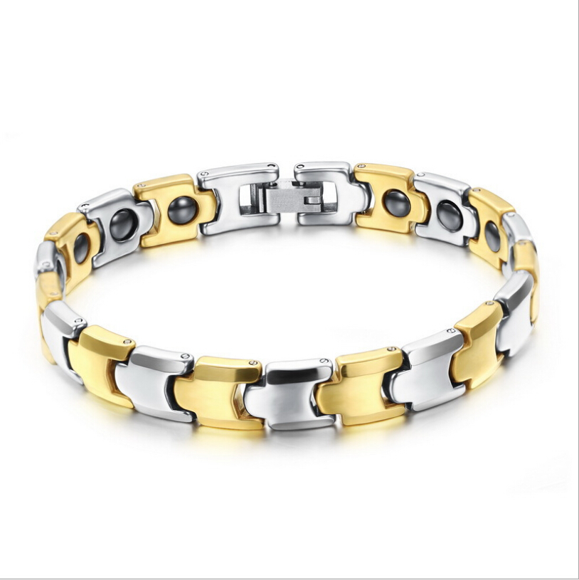 fashion Women Men tungsten bars rods Super Health Care bracelets inlaid Magnetic Ball ws935 - CN Jewelry Trade Co., Ltd. store