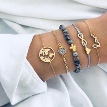 30 Styles Mix Turtle Heart Pearl Wave LOVE Crystal Marble Charm Bracelets for Women Boho Tassel Bracelet Jewelry Wholesale(China)