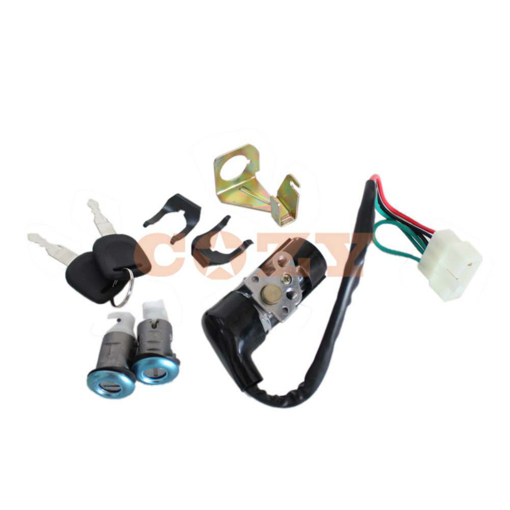 Ignition Switch Key Set 5 Wires Moped Scooter Gy6 50cc 125cc 150cc for Roketa for Jonway(China (Mainland))