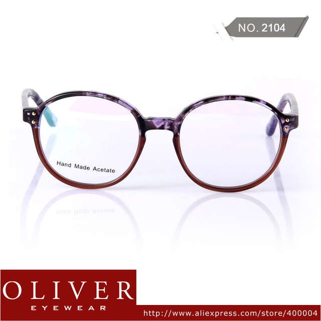 New Arrival 2013 Retro Optical Frame Unisex Cute Round Frame Eyeglasses Leopard+Patchwork Frame Brand Eyewear 2104 Free Shipping
