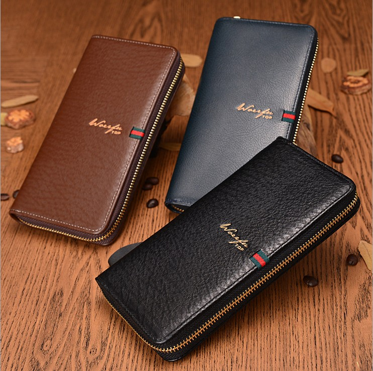 !New Men Wallet 3 Colors 2 Styles Leather Fashion Design Long Purses Wallets C3432 - Fiona's and Bag Store store
