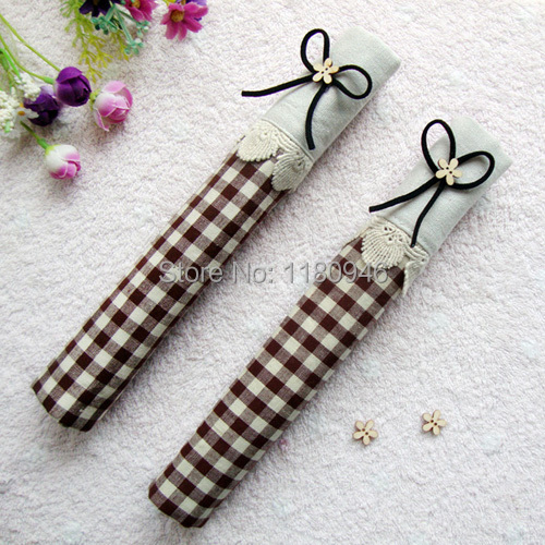 Fabric Book Cover With Handles Pattern ~ Coffee refrigerator handle cover fridge door cloth