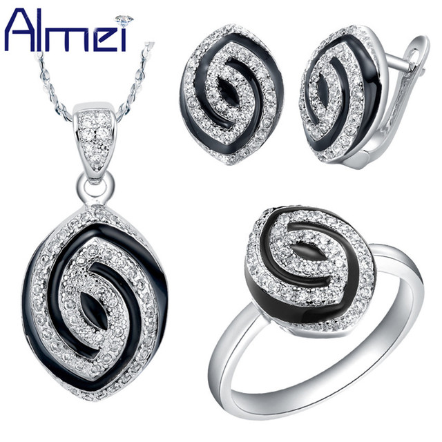 Aliexpress.com : Buy Almei Silver Bridal Jewelry Sets ...
