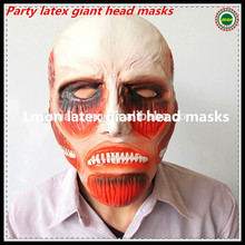 Party Cosplay The giant masks Attack On Titan Shingeki No Kyojin Giant Cosplay Latex Head Mask Halloween Prop