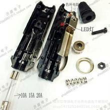 12V Male Car Cigarette Lighter Socket Plug Connector with Fuse Red LED DIY BEST(China (Mainland))