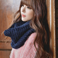 New Autumn And Winter Warm Collar Knitted Woolen Length Pullover Collars Solid Color For Male And