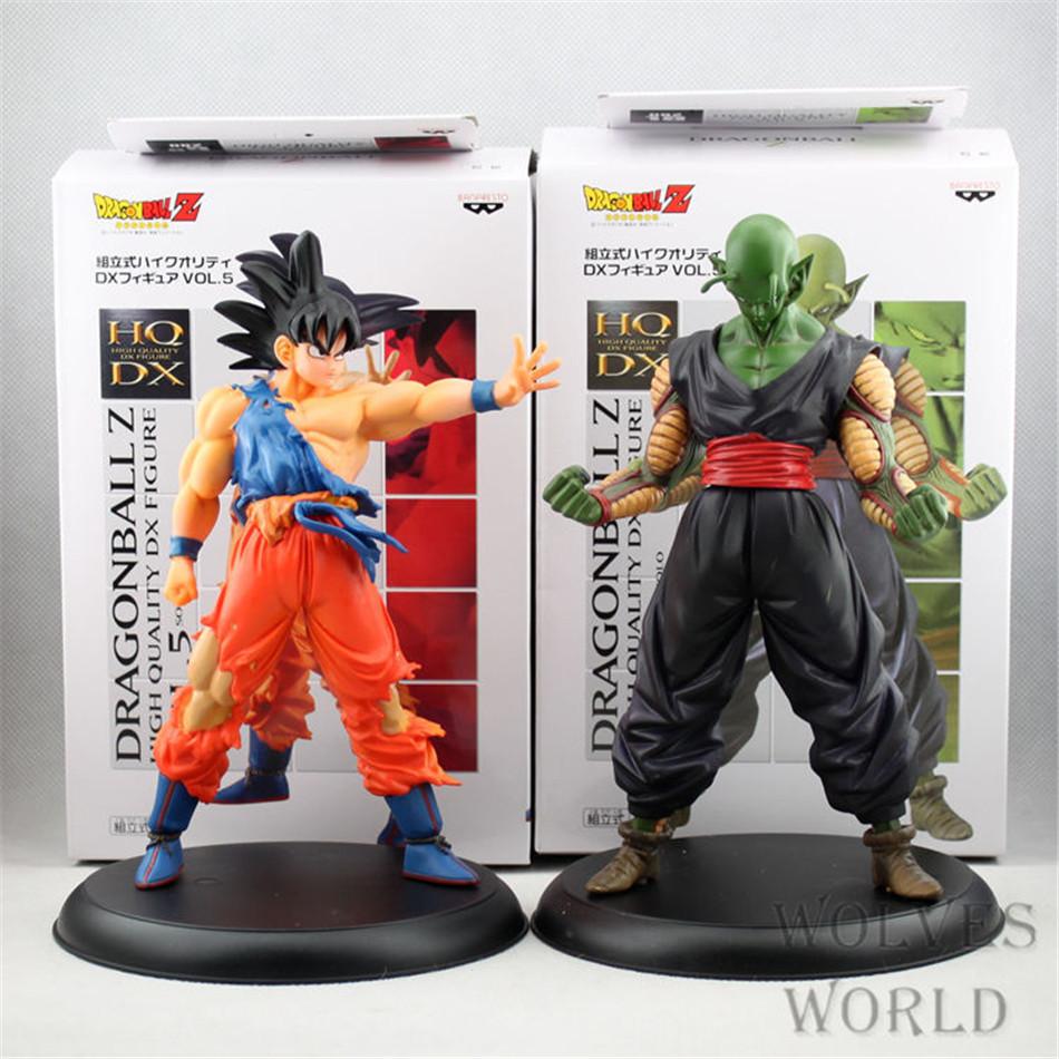 20CM 2pcs/set Anime Dragon Ball Z Son GOKU Piccolo Super Saiyan Action Figures PVC Limit Boxed For Kid Collectible&Gift Toy 0382(China (Mainland))