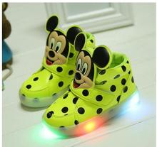 2016 New Children Casuals Shoes Baby Toddler Shoes Girls Boys Sports Shoes Kids LED Light Sneaker Baby Luminous free shipping(China (Mainland))