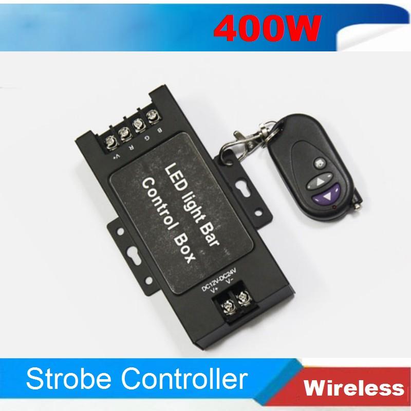 12v 24v 360W Led light flasher module Wireless RF Remote control box controller Led DRL Daytime Daylight running Led light bar(China (Mainland))