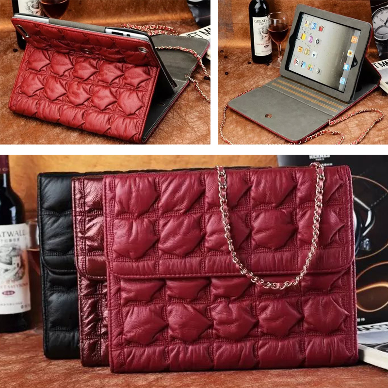 Cross Body shoulder Messenger bread bag for 9.7 Apple iPad Air 2 / 6 desk stand holder Protective tablet  card slot cover case<br><br>Aliexpress