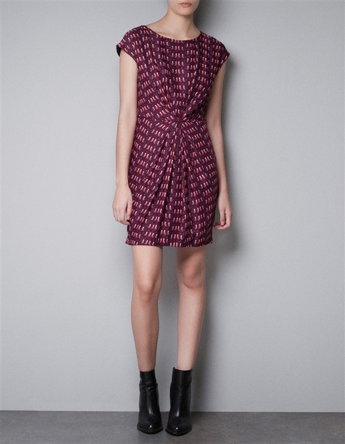 2013 summer new European style same paragraph birdie printing Slim Pleated Dress