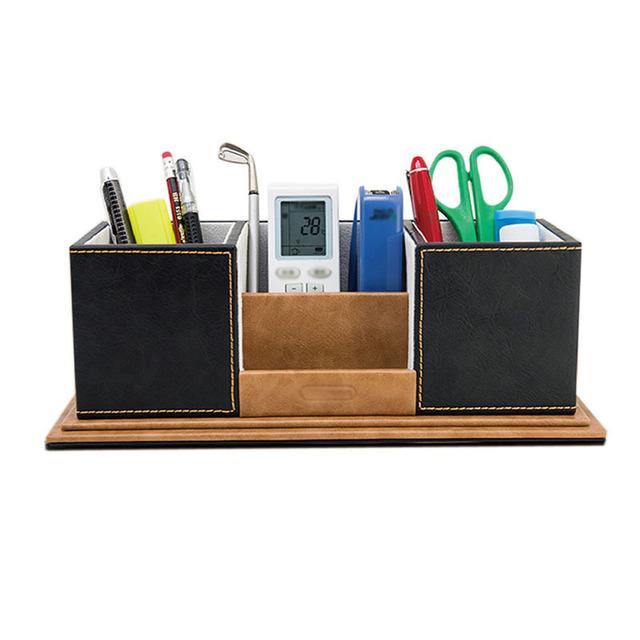 L piz oficina pluma sostenedor de escritorio de madera for Accesorios de oficina