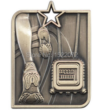 High quality and low price Star Medal Running ENGRAVING With Ribbon cheap custom sports medals hot sales metal medals custom(China (Mainland))