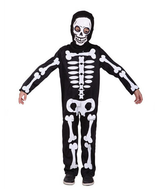 Free shipping!!Halloween Halloween carnival party, costume party, game performance clothing, children's skeleton skeleton(China (Mainland))