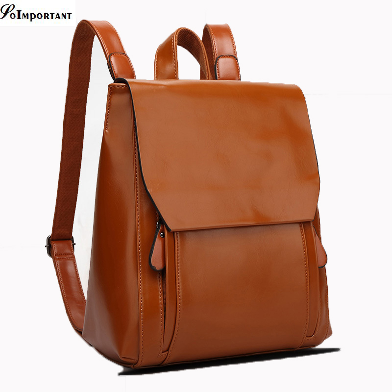 Excellent Quality PU Leather Women Backpacks 2016 Female Fashion Cover Multi Pocket Large Size Backpacks Ladies School Bags(China (Mainland))