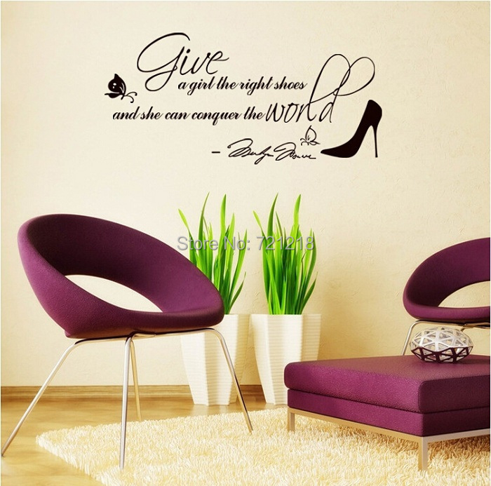 Shoe fashion quotes promotion online shopping for for Living room decor quotes