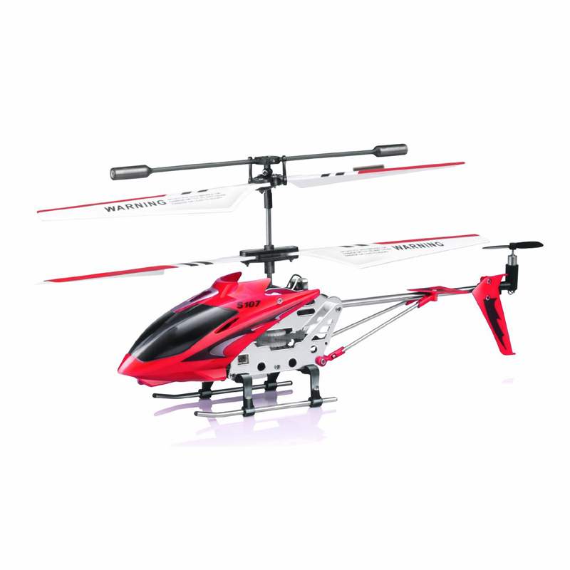 New 3CH Red Color Remote Control S107 S107G RC Helicopter with Gyro(China (Mainland))